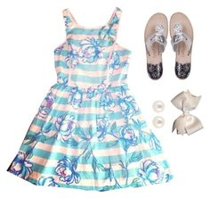 """""""Lilly dress"""" by kaley-ii ❤ liked on Polyvore featuring Jack Rogers and Henri Bendel"""