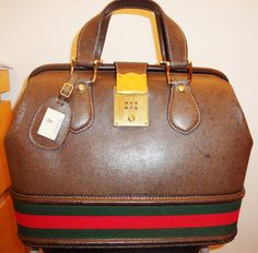 Gucci Vintage Doctor Hand Bag Rare 60s Leather Accessories Guccio Bags