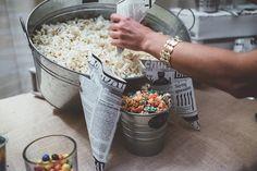 Popcorn wedding table
