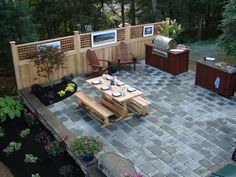 exciting outdoor living kitchen area: outdoor living space ideas on a budget