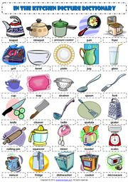 In the Kitchen Picture Dictionary ESL Worksheet