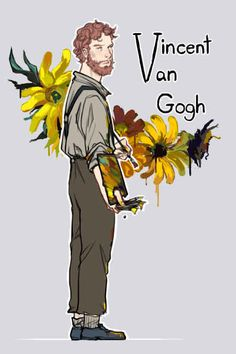 Vincent Van Gogh from the movie Van Gogh - Art Painting Vincent Van Gogh, Van Gogh Arte, Art Hoe Aesthetic, Van Gogh Museum, Benedict Cumberbatch, Painting Inspiration, Cute Art, Art History, Tandem
