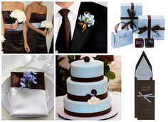Cute.  Blue and Brown Wedding