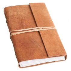 One World Interiors - Travelbook - Natural Buffalo Leather