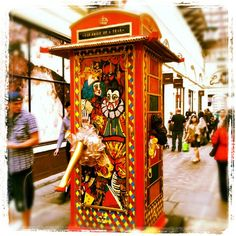 Phone boxes transformed into artworks are popping up all over London. This one is in Covent Garden.