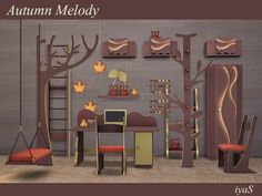 soloriya's Autumn Melody Sims 4 Cc Furniture, Kids Furniture, My Sims, Sims Cc, Sims 4 Cc Packs, Cute Cottage, Sims 4 Build, Sims 4 Update, Sims 4 Cc Finds