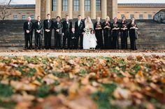 wedding portraits at the philadelphia art museum the starting line | lauren+mark