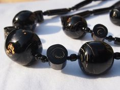 Black coral necklace, bracelets and earring set (Jessica)