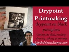 Printmaking Tutorial: how to make a drypoint on black plexiglass #intaglio - YouTube