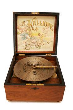 Fascinating Antique Kalliope Disc Music Box