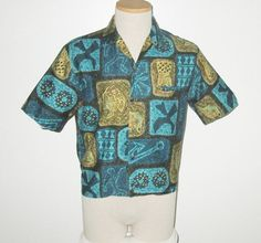 Vintage 1950s 1960s Hawaiian Tiki Abstract by SayItWithVintage