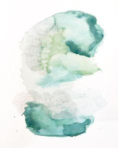 offshore 4 by Kristin R. Sanchez  // gouache and graphite