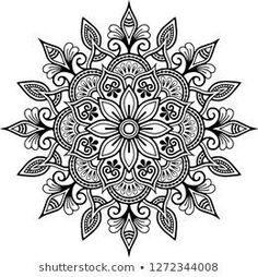 Mandala pattern black and white doodles sketch good mood Motif Mandala griffonnages noir et blanc es