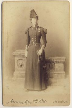 I love a woman in uniform! Victorian woman in naval uniform. Viktorianischer Steampunk, Steampunk Fashion, Steampunk Dress, Neo Victorian, Victorian Women, Victorian Photos, Navy Uniforms, Costume, Women In History