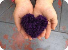 Pompon coeur | La cabane à idées