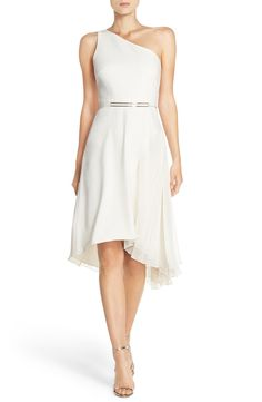 Halston Heritage One-Shoulder Crepe Asymmetrical Dress available at #Nordstrom