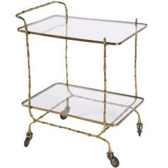 antique bar cart w\ casters