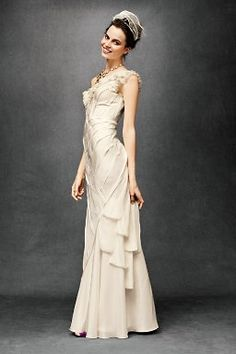 Layered vintage gown