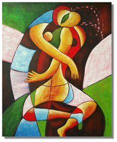 Art Cubist Lover Hugs oil Paintings on canvas abstract figure wa Cubist Paintings, Cubist Art, Oil Paintings, Abstract Canvas, Oil Painting On Canvas, Frankenstein Art, Figure Painting, Erotic Art, Figurative Art