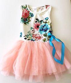 Adorable Pink Floral Dress