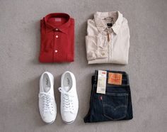 The Chapar - Personal Stylist Review. Hartford shirt, Albam jacket, Jack Purcell, Levi's 511.