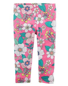 f536598f980580 Fun flowers give these girls' Carter's leggings refreshing style. In pink /multi.
