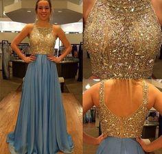 Sleeveless Floor Length Prom Dresses Beaded Embellishment pst0188