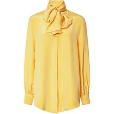 Mother of Pearl Linley Heavy Crepe De Chine Bow Shirt
