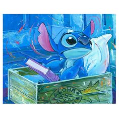 Lilo & Stitch A Bedtime Story Disney Canvas Giclee Print - Acme Archives - Lilo & Stitch - Giclees at Entertainment Earth