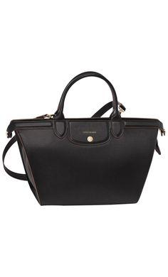 Longchamp Le Pliage Héritage Large Handbag Black #crossbody #bags #SS2016