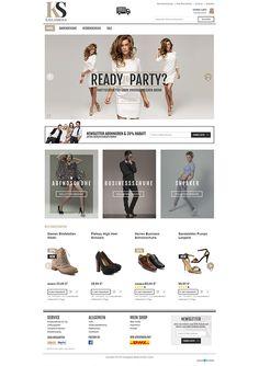 E-Commerce Webdesign made by 4market | www.4market.de/ | Onlineshop für Schuhe