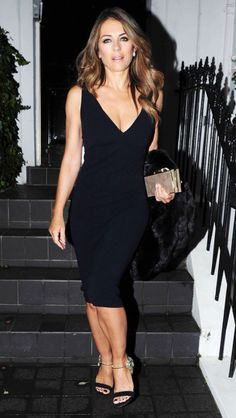 Elizabeth Hurley from The Big Picture: Today's Hot Pics Yowza! The Royals star rocks an LBD at an event in London. Elizabeth Hurly, Elizabeth Jane, Elisabeth, Hot Brunette, Hurley, Hottest Photos, Lbd, Celebrity Style, Celebrity News