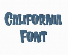 California Machine Embroidery Font Monogram by RivermillEmbroidery