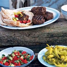 Turkish lamb burgers recipe. These spicy lamb burgers will go down a treat at a barbecue; serve with Turkish accompaniments, such as flatbreads, pickled green chillies, natural yogurt and mixed salad.