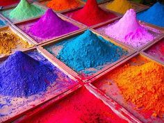 India during Holi, the Festival of Colours World Of Color, Color Of Life, La Trattoria, Things Organized Neatly, Indian Colours, Moroccan Colors, Color Swatches, Over The Rainbow, Color Palettes