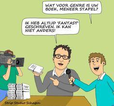 Cartoon over Diederik Stapel