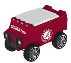 Let the fun begin with your remote control Alabama Crimson Tide Cooler. Holds 30 cans plus ice. Officially licensed by the NFL. Free shipping. Excellent quality. Visit sportsfansplus.com for details.