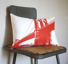 PILLOW COVER ONLY  Brooklyn Bridge  Urban Throw Style by NestaHome, $22.50