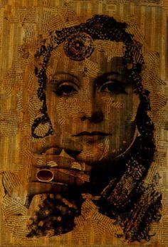 "Saatchi Online Artist CARMEN LUNA; Assemblage / Collage, ""28-GRETA GARBO por Carmen Luna"" #art http://www.saatchionline.com/art-collection/Mixed-Media-Painting-Assemblage-Collage/GRETA-GARBO-La-Divina-por-CARMEN-LUNA/71968/23251/view"