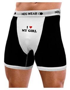 4dca9f9d0 Amazon.com  TooLoud I Heart My Girl - Matching Couples Design Mens NDS Wear  Boxer Brief Underwear - Small  Clothing