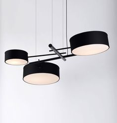 Excel Chandelier (Black). Designed by Rich Brilliant Willing for Roll & Hill