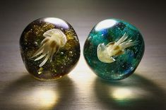 Jerryfish in glass beads, Saigendo, Okinawa, Japan