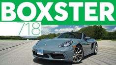 The 2017 Porsche 718 Boxster features a four-cylinder turbo engine that produces impressive speed and a playful performance. The interior has a premium atmosphere.