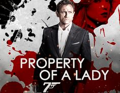 """Check out new work on my @Behance portfolio: """"Fan Pôster - 007: Property Of A Lady"""" http://be.net/gallery/35947105/Fan-Poster-007-Property-Of-A-Lady"""