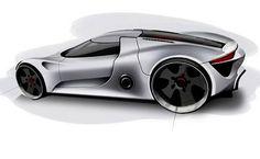 Car Design Sketch, Car Sketch, Supercars, Industrial Design Sketch, Car Mods, Porsche Design, Car Drawings, Machine Design, Transportation Design