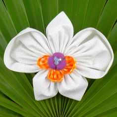 Fabric Flower Tutorial Pattern - Orchid Brooch Phalaenopsis © by La Todera