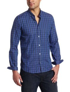 I'm digging this style & brand: Ted Baker Men's Ardens Long Sleeve Gingham Shirt on Amazon.com