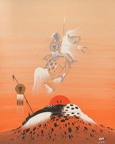 Spirit Rider 1978 by Rance Hood kp Native American Prayers, Native American Horses, Native American Paintings, Native American Artists, Native American History, Indian Paintings, Navajo Art, Southwestern Art, Horse Drawings
