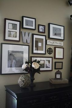 I think it would be fun to do some type of gallery wall on the entrance wall