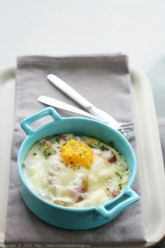 Baked Eggs with Potatoes and Pancetta